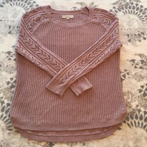 Loft size M chunky knit lavender sweater